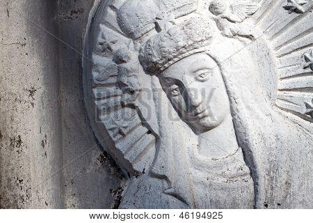 Bas Relief Of Virgin Mary