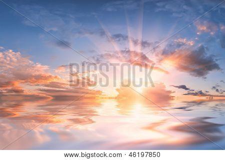 Reflexo do céu na água