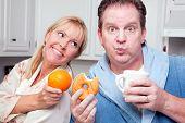 Orange Vs. Donut Healthy Eating Decision