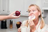 Apple Vs. Donut Healthy Eating Decision