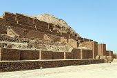 picture of ziggurat  - Brick Choqa Zanbil near Shush in Iran - JPG
