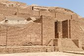image of ziggurat  - Big brick Choqa Zanbil ziggurat near Shush Iran - JPG
