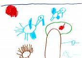 pic of stork  - childs drawing  - JPG