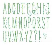 picture of letter t  - Skinny Bumpy Type  - JPG