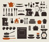 stock photo of fish icon  - Kitchen Appliances - JPG