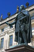 Frederick Francis I's Statue, Grand Duke Of Mecklenburg-schwerin (germany) poster