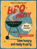 stock photo of bbq party  - Vintage sign  - JPG