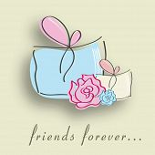 image of  friends forever  - Happy Friendship Day background with gift boxes - JPG