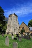 English church and cemetery, Scalby village, England.