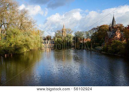 Minnewater pond , Brugge