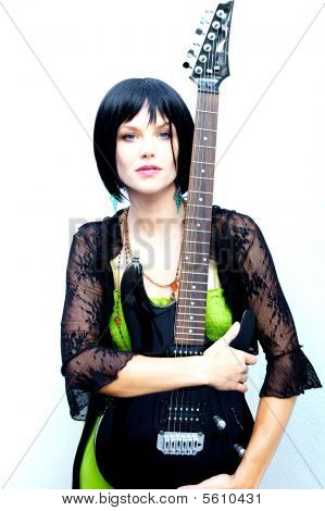 Woman Rocking Out