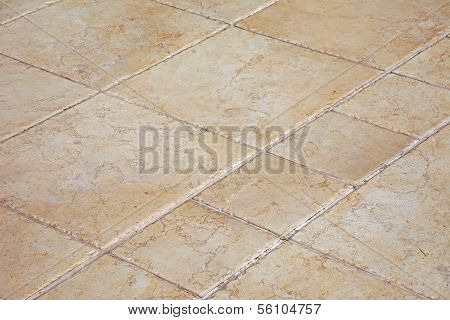 Large Stone Tiles On The Floor