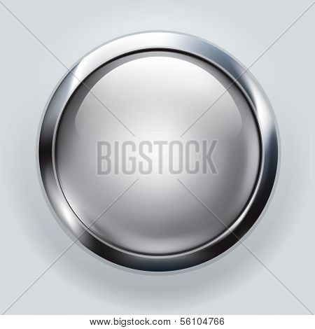 silver button background