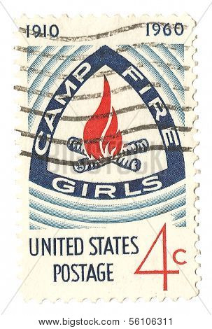 United States Stamp Camp Fire Girls