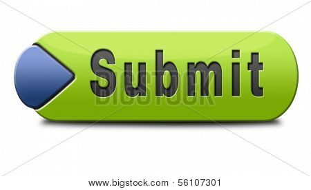 Submit button or icon for submitting data file or document