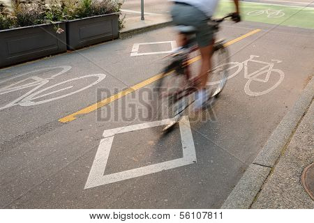 Bicycle Lane, Downtown Vancouver