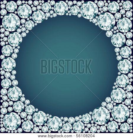 Round Frame Made Of Diamonds.