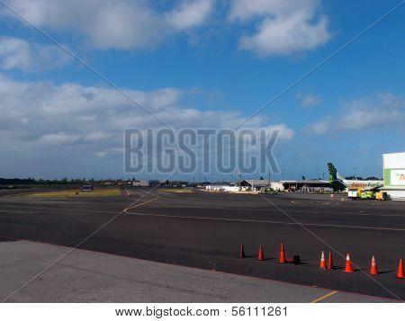 Empty Honolulu International Airport Runway