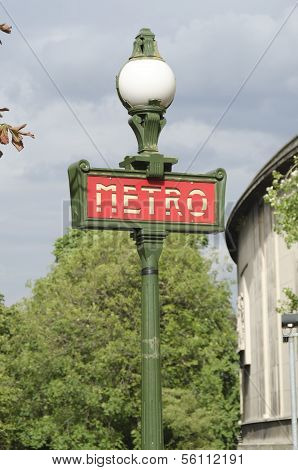 Metro Sign, French Subway