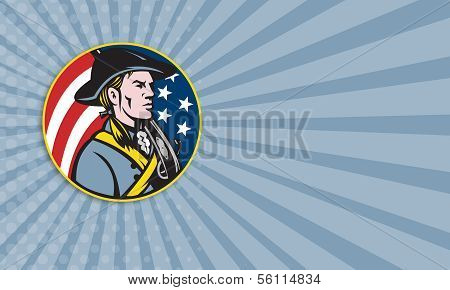 American Patriot Minuteman With Flag