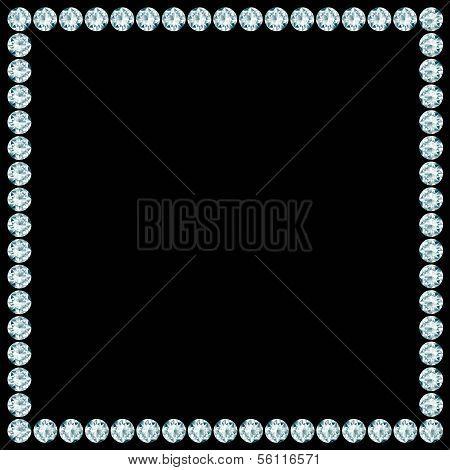 Square Frame Made Of Diamonds.