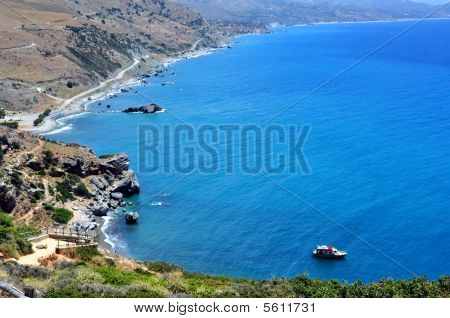 View of Preveli Beach