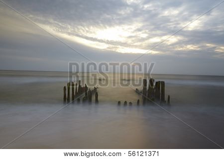 Sylt (germany) - Groin In The Sunset