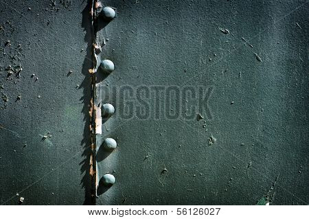 Painted Riveted Metal
