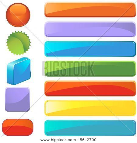 Blank Button Set