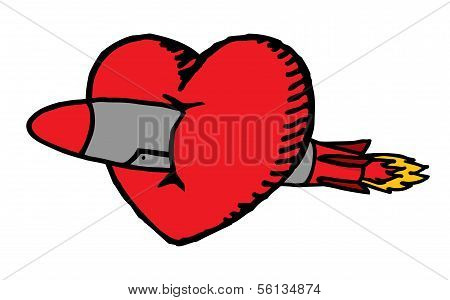 Big Love or Heart Crossed By A Missile