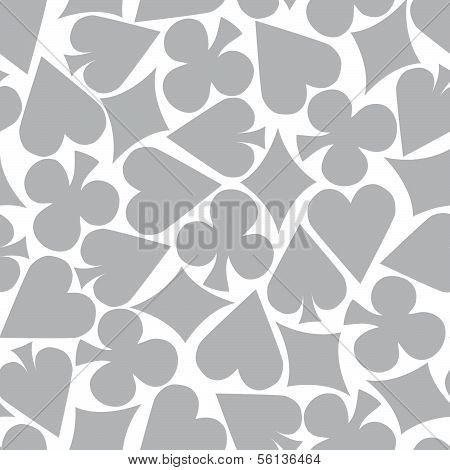 Seamless Poker Pattern Background (grey)