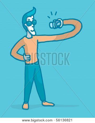 Vain Man Taking An Photo Of Himself