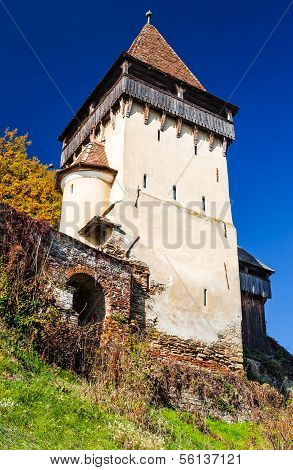 Tower Of Biertan Medieval Church, Romania