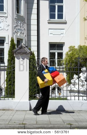 Man With Many Birthday Gifts