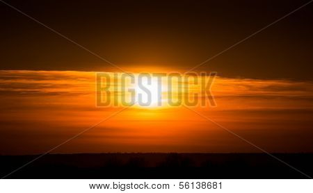 bright sunset photo as background