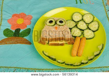 Eule-sandwich