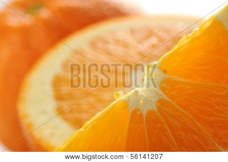 Extreme close-up image of orange