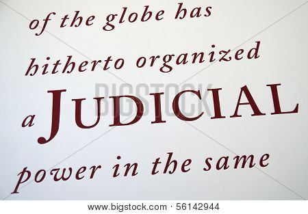 Judicial concept of justice and legal system
