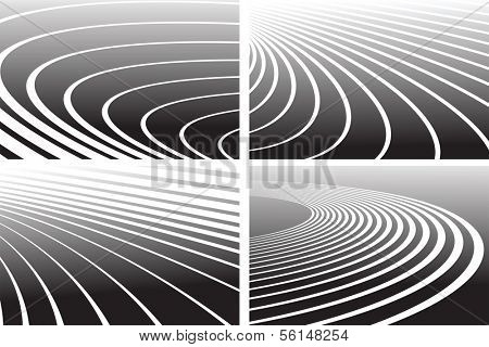 Track lines. Abstract backgrounds set. Vector art.
