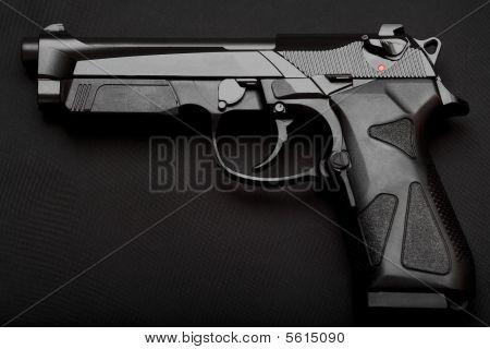 Pistol On Black