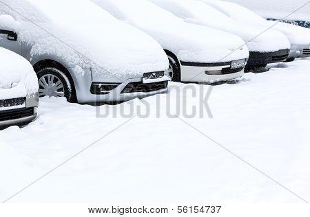 Blizzard In Parking Lot