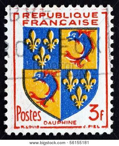 Postage Stamp France 1953 Arms Of Dauphine