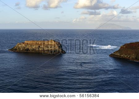 View Of Corvo Island From Flores, Azores Archipelago (portugal)