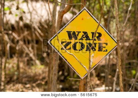 War zone signboard