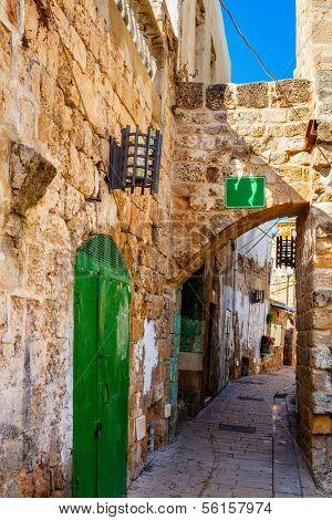 A street in Akko (Acre), Israel