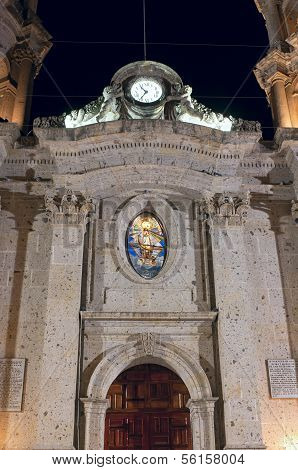 Facade Of San Francisco De Asis Church In Chapala