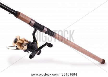Fishing Rod, Reel (clipping Path)