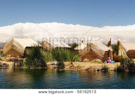 Titicaca Lake, Peru, Floating Islands Uros