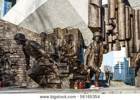 Memorial To 1944 Warsaw Uprising In Poland