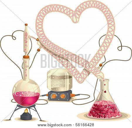 Love Chemistry - Vector Illustration